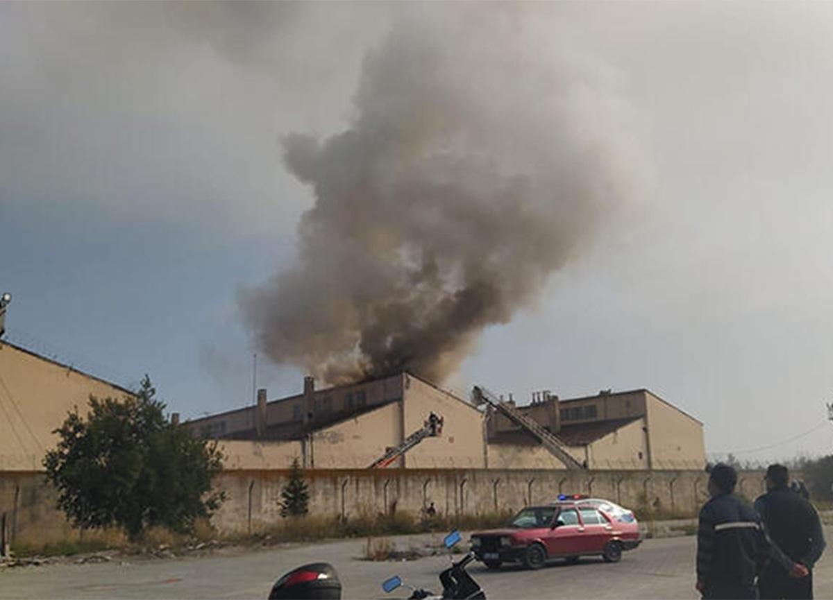 Kütahya'da cezaevinde yangın! 26 mahkumun kaldığı koğuş...