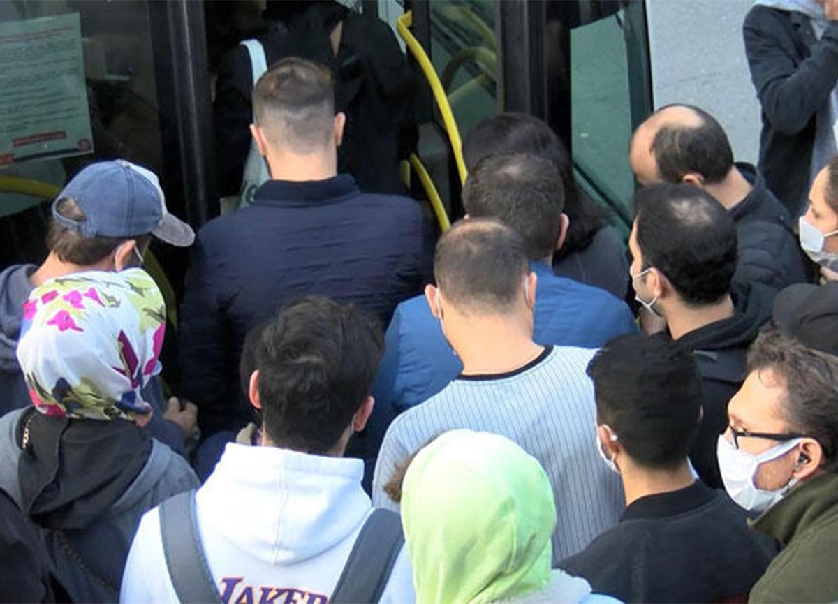 İstanbul'da bu sabah! Toplu taşımada yoğunluk!