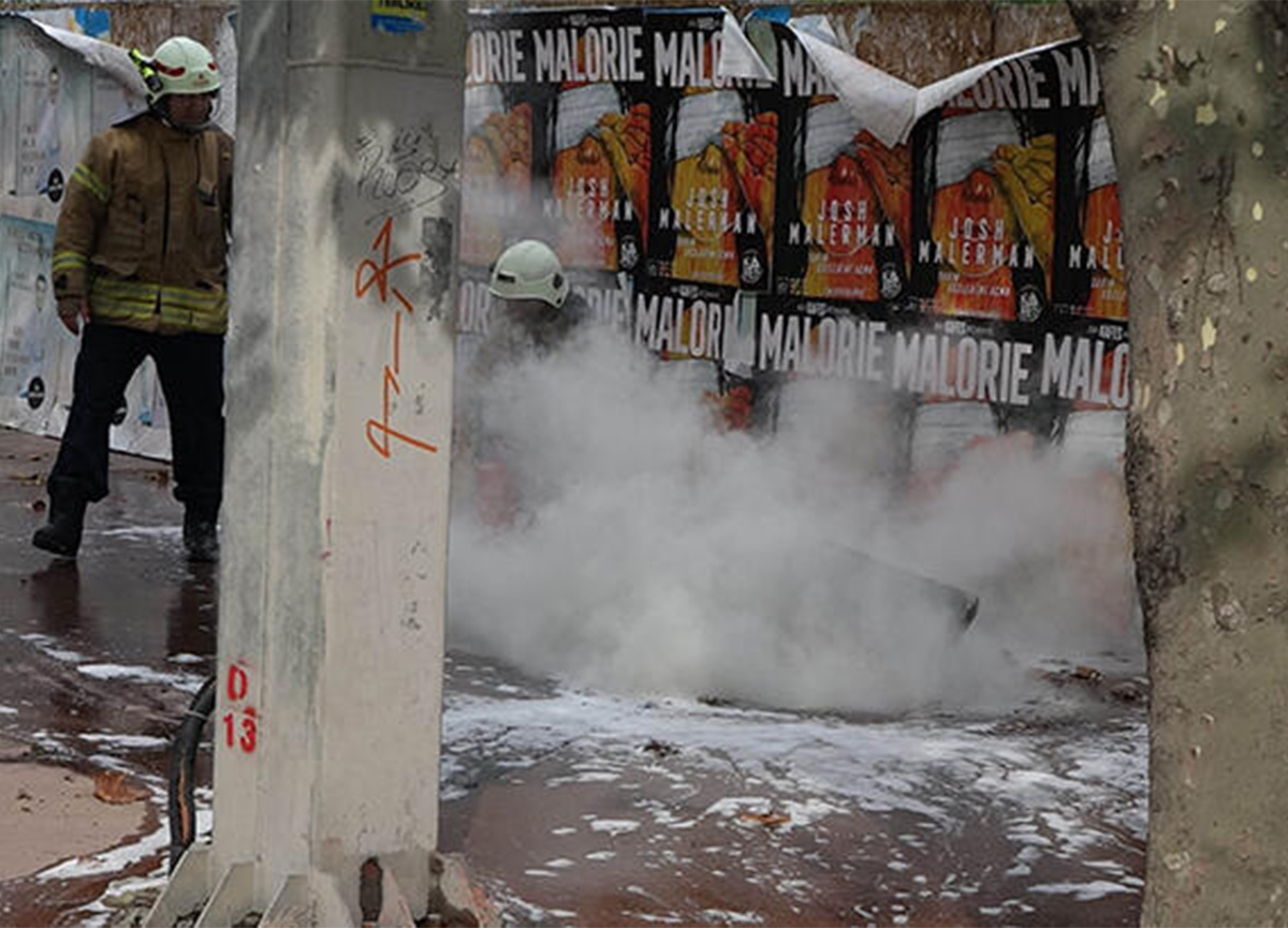 Beşiktaş'ta elektrik kablolarında patlama