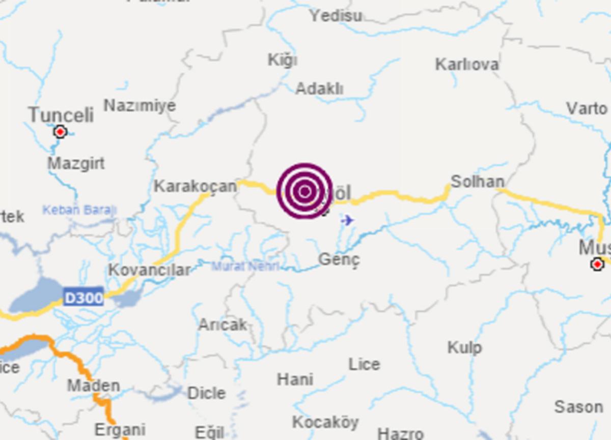 Bingöl'de deprem oldu! Büyüklüğü...
