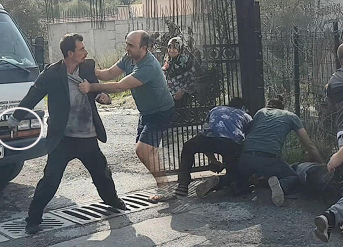 İstanbul'da bıçaklı kavga! İki komşu aile arasında...