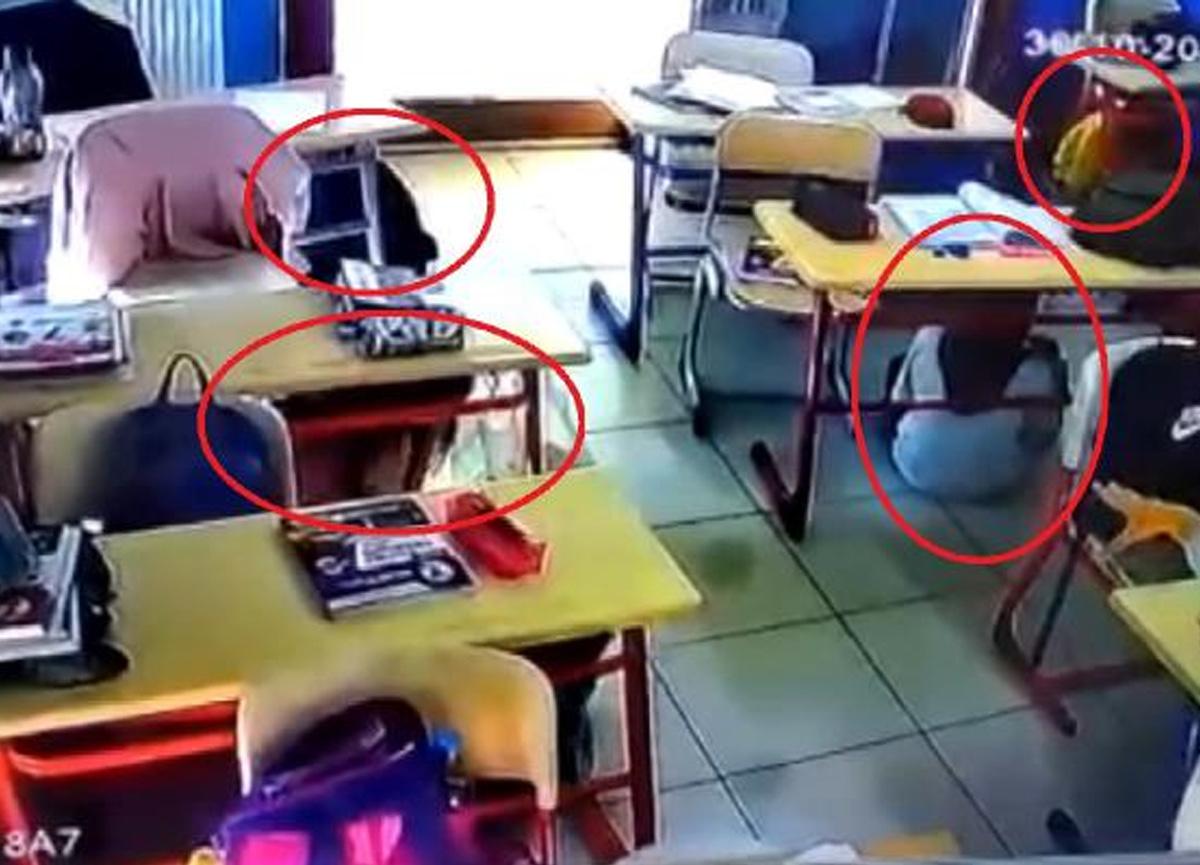 Öğrenciler depreme okulda yakalandı! Öğretmenleri kucaklayıp dışarı çıkardı...