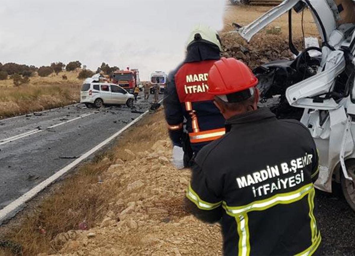 Mardin'de trafik kazası! Ölü ve yaralılar var!
