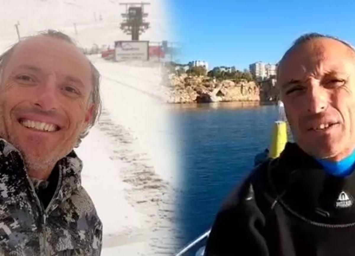Antalya'da 24 saatte iki farklı mevsim! Dün dalış yaptı, bugün kar manzarasını seyretti