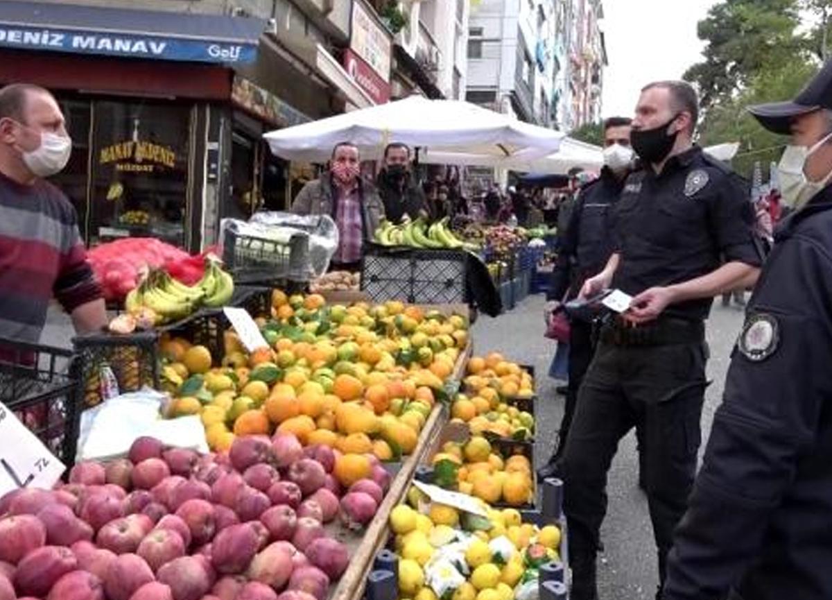 Koronavirüs temaslısı kardeşler pazarda satış yaparken yakalandı