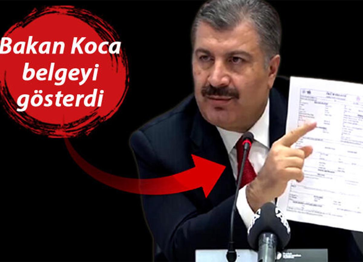 Bakan Koca'dan İmamoğlu'na belgeli yanıt!