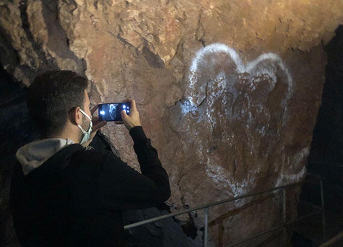 Mağarada şoke eden görüntü!