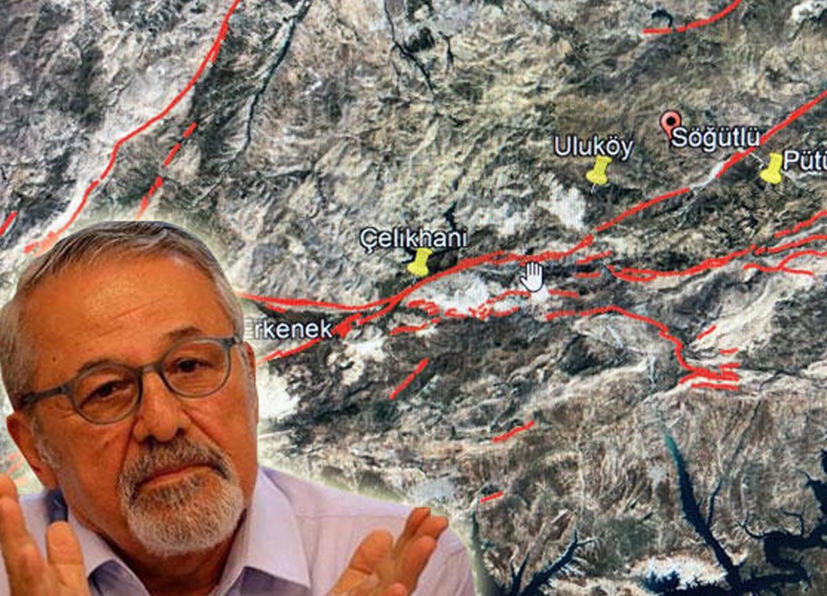 Prof. Dr. Naci Görür Malatya'daki depremin ardından bu haritayı paylaşıp uyarıda bulundu