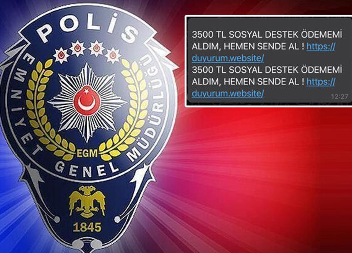 Emniyet Genel Müdürlüğü, dolandırıcılık amaçlı mesajlara karşı vatandaşları uyardı