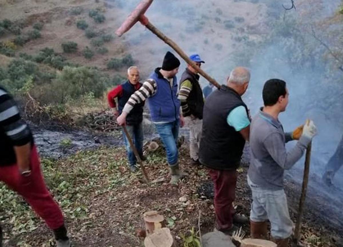 Dumanı gören köylüler dağa koştu, yangın kısa sürede söndürüldü
