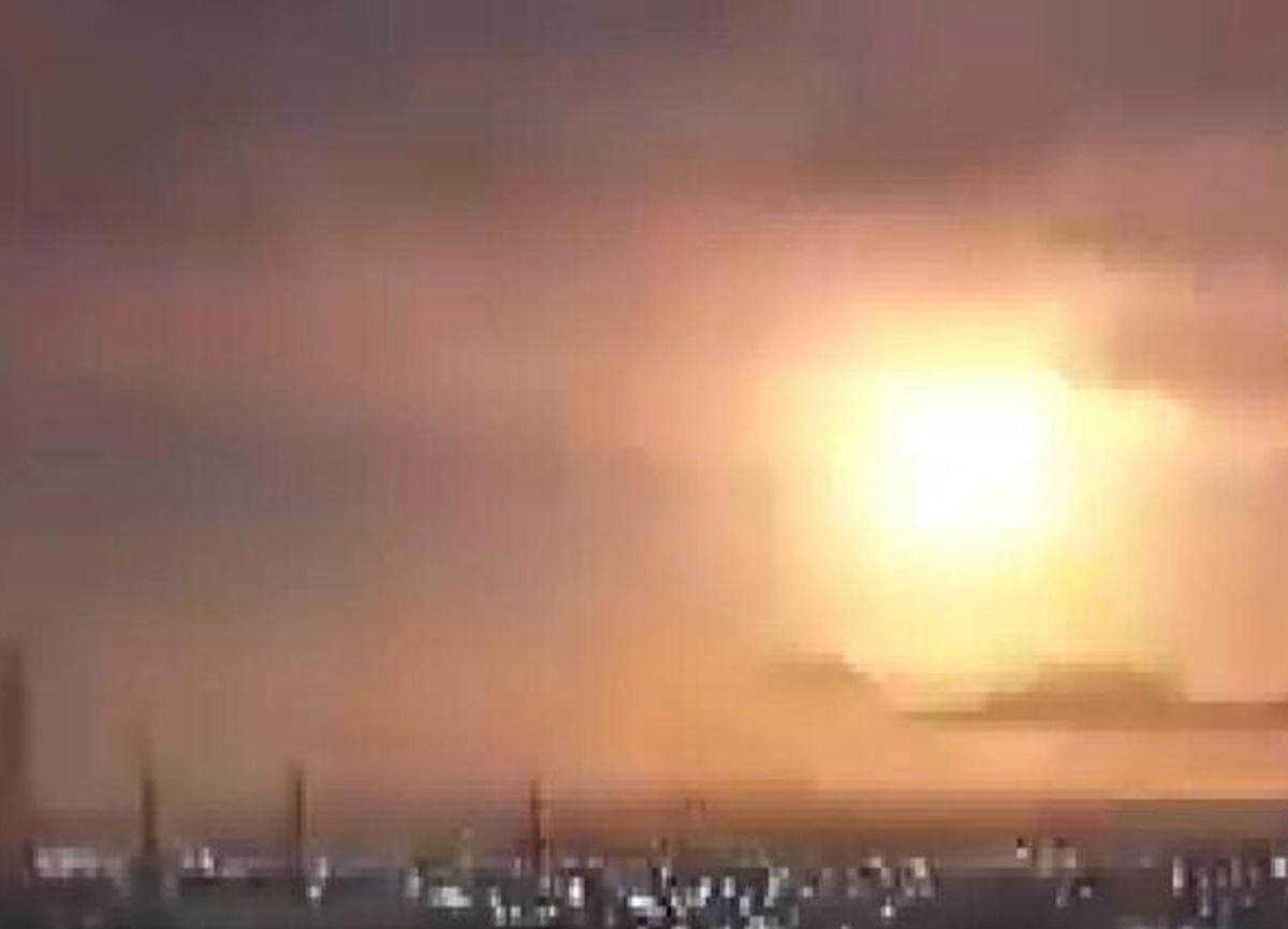 Japonya'da şoke eden görüntü! Gökyüzünden bir anda düşerek ateş topuna dönüştü