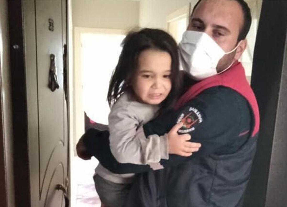 Şanlıurfa'da evde mahsur kalan çocukları itfaiye kurtardı!