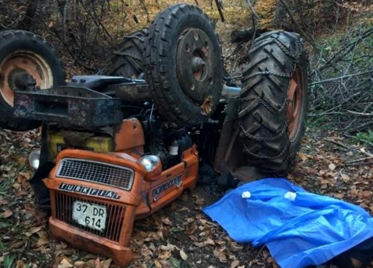 Odun taşıdığı traktörün altında kalarak feci şekilde can verdi
