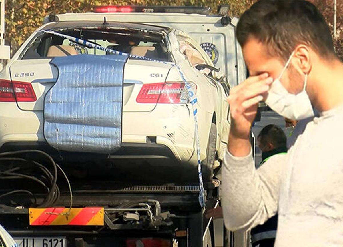 İstanbul'da kaza! Otomobil, kamyonete çarptı!