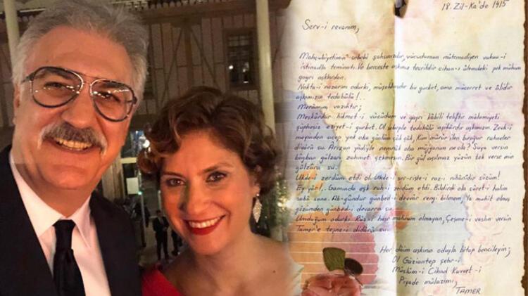 Tamer Karadağlı eski eşi Arzu Balkan'a yazdığı Osmanlıca mektubu sosyal medyada paylaştı