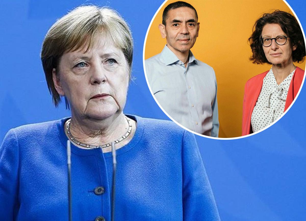 Almanya Başbakanı Angela Merkel'den BioNTech kurucuları Uğur Şahin ile Özlem Türeci'ye övgü!