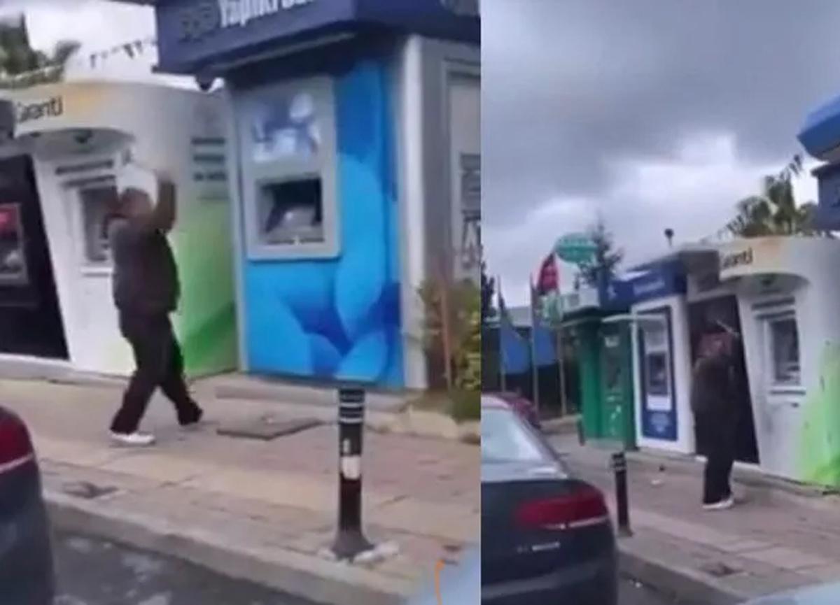 Beykoz'da şoke eden olay! ATM'lerin hepsini tek tek parçaladı...