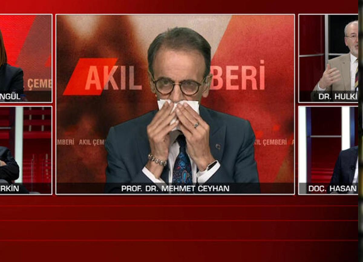 Canlı yayında rahatsızlanan Prof. Dr. Mehmet Ceyhan'dan açıklama: Mide kanaması geçirdim