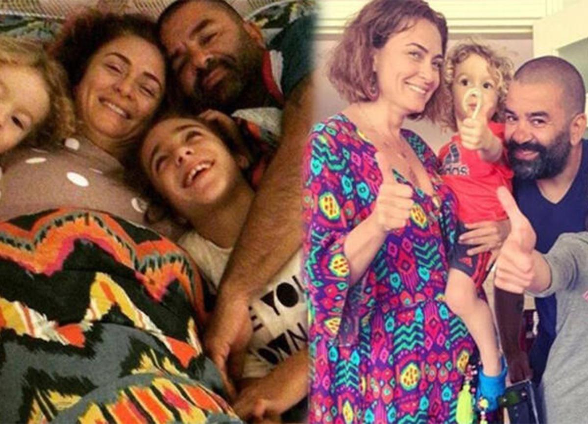 Ceyda Düvenci'den aile pozu: 'İnsan tüm gün böyle kalmak istiyor'