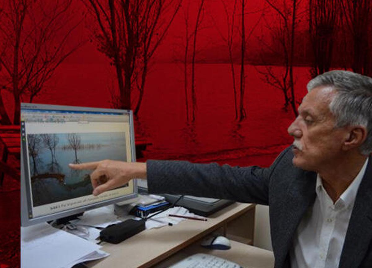 Elazığ'da meydana gelen deprem sonrasında Hazar Gölü'nde su seviyesi yükseldi