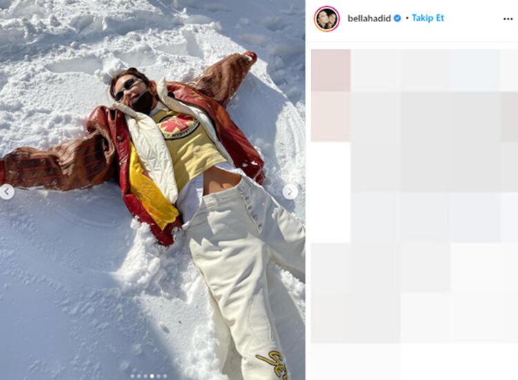 Dünyaca ünlü model Bella Hadid'in kar pantolonunun fiyatı dudak uçuklattı