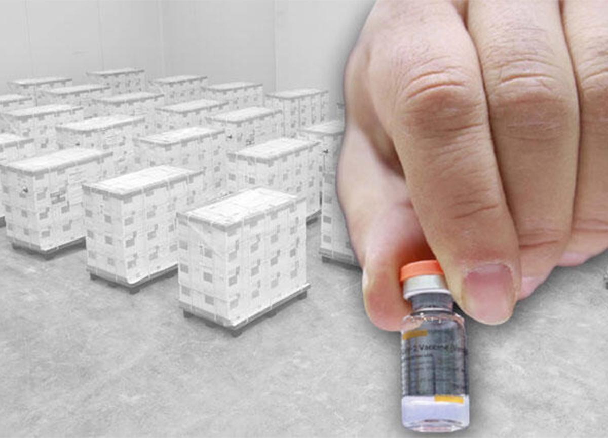 Çin'den gelen koronavirüs aşıları kontrol edildi! Depoya yerleştiriliyor