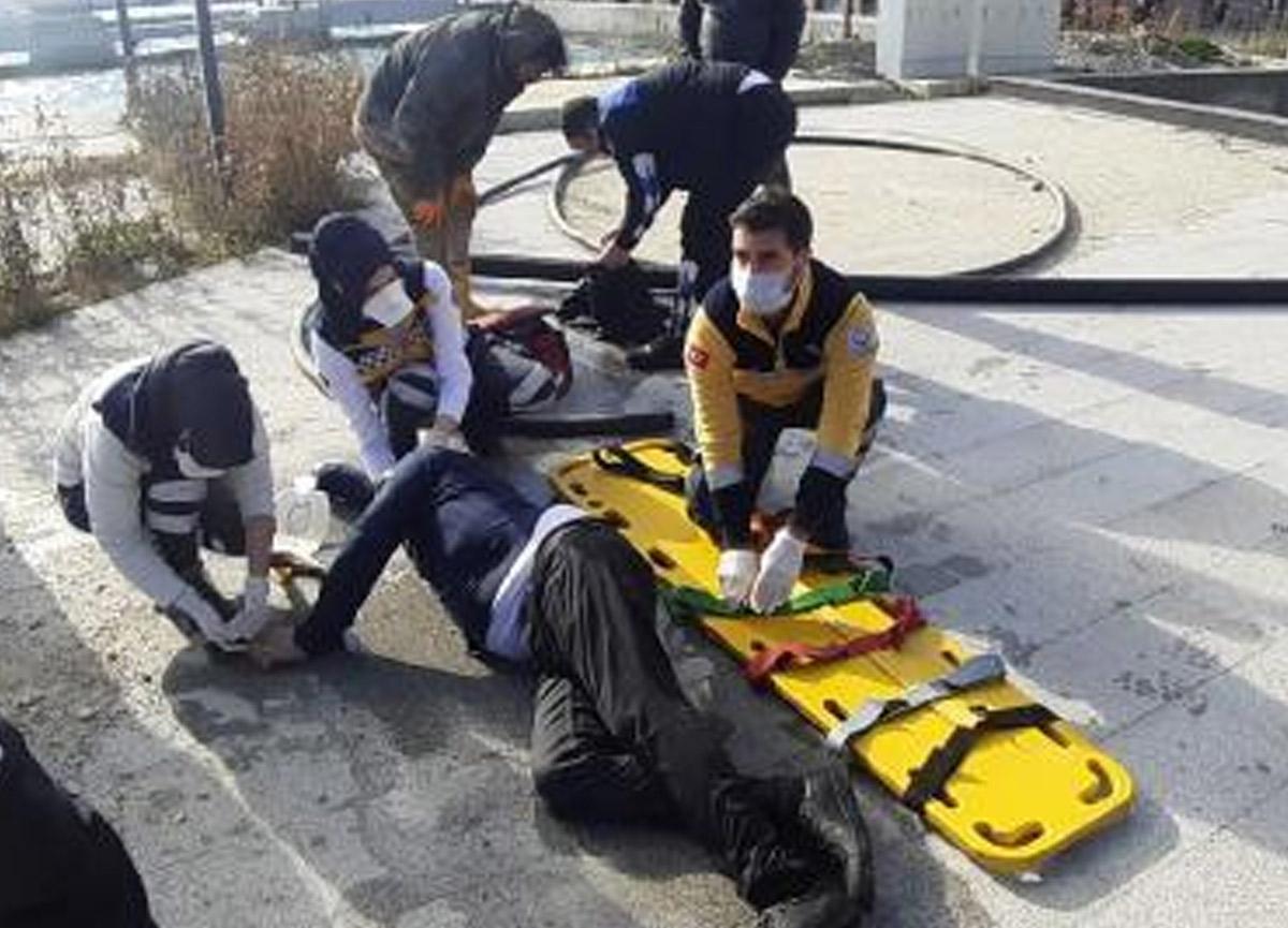Denize atlayarak intihar etmek istedi, suya giren zabıta onu kurtardı
