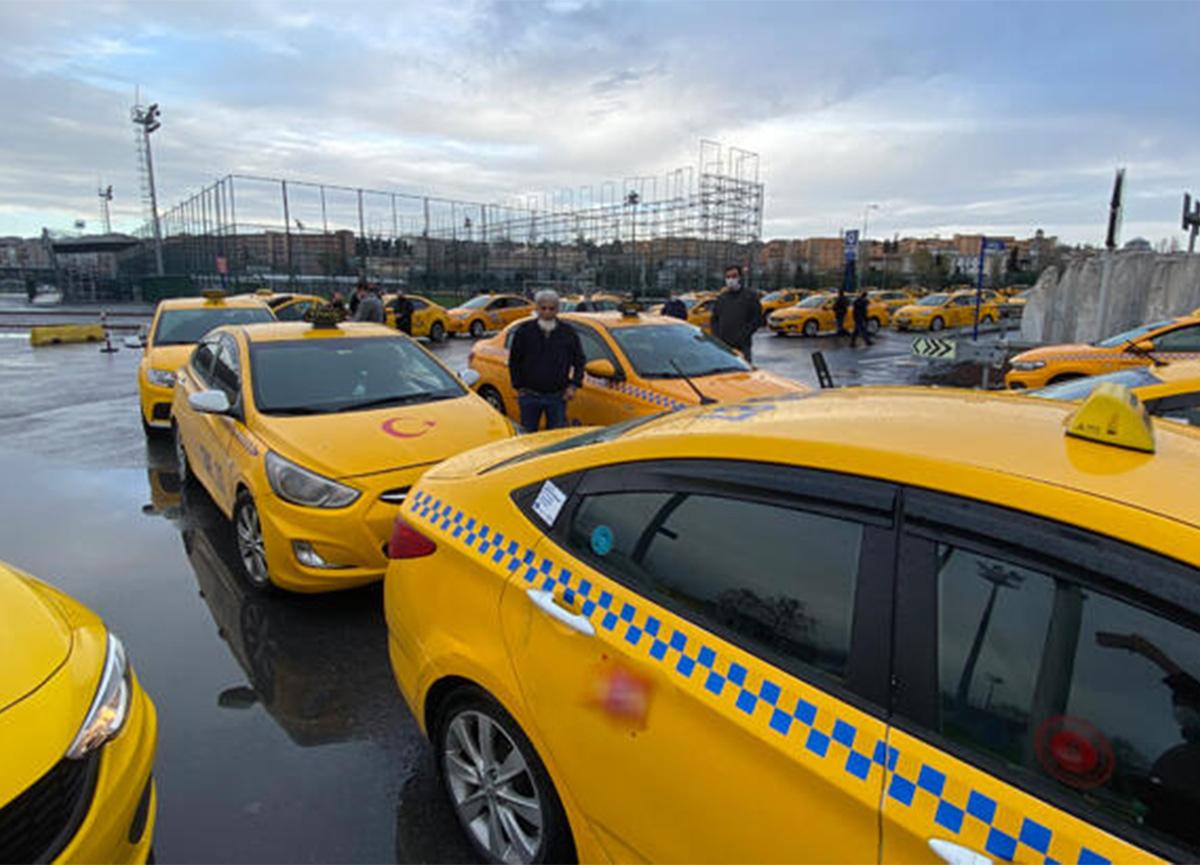 Taksi ücretlerine zam gelince taksimetre kuyruğu başladı!