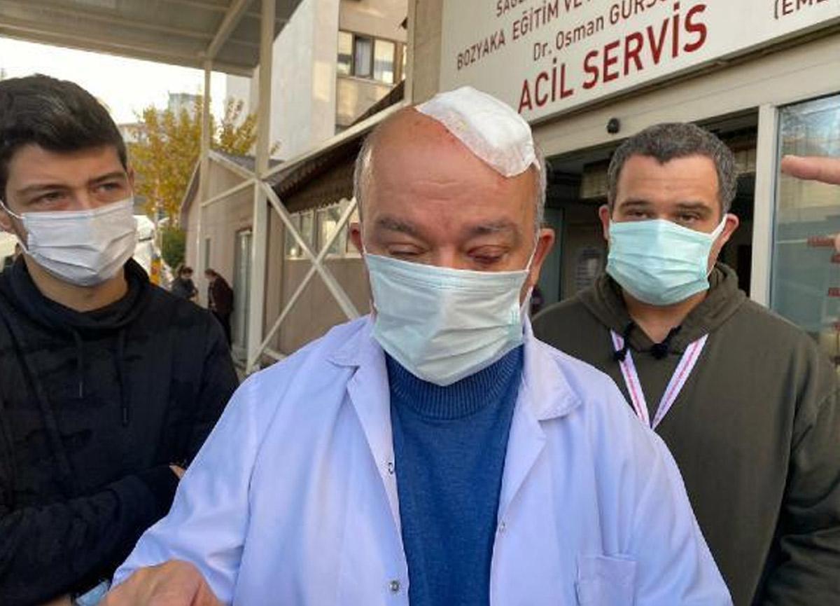 Maske Uyarısı yapan doktora taşla saldırdı, kafasını yardı