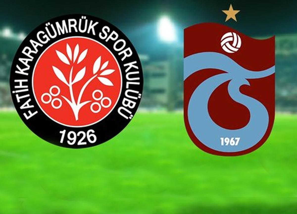 Fatih Karagümrük Trabzonspor maçı canlı izle   Karagümrük Trabzonspor maçı saat kaçta hangi kanalda?