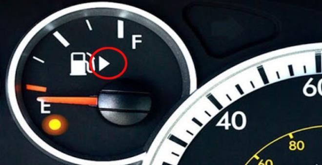 Birçok kişi yanlış ya da eksik biliyor! Benzin göstergesinin yanında bulunan işaret bakın ne işe yarıyormuş