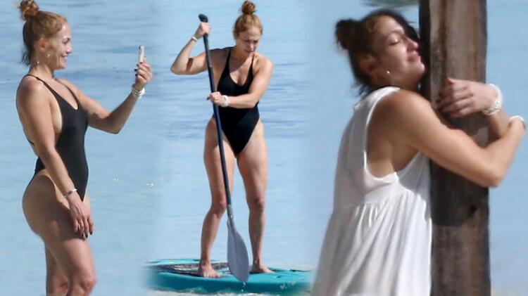 Jennifer Lopez'in izole tatili! Kürek çekti, meditasyon yaptı