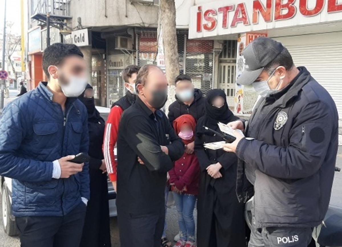 Polis ekiplerinin durdurduğu araçtan 9 kişi çıktı! 18 bin 310 TL para cezası uygulandı