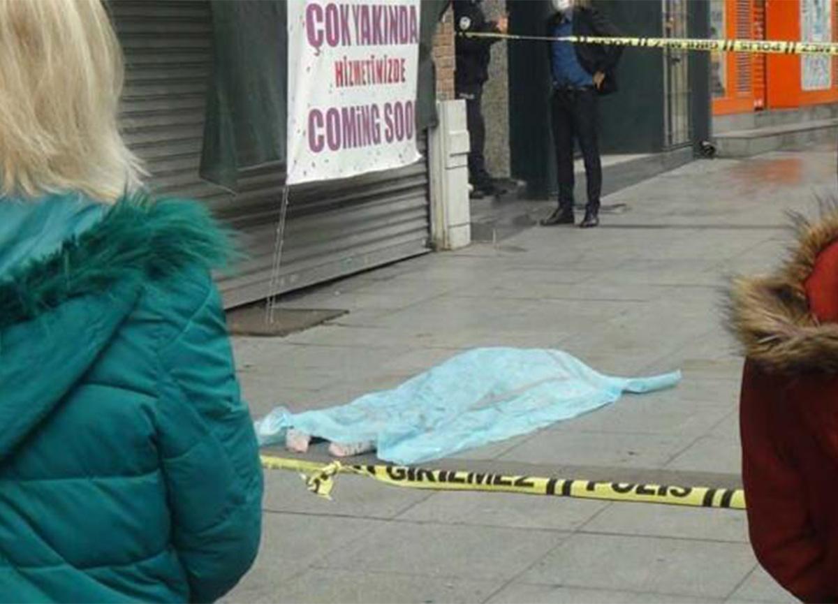 İstanbul'un göbeğinde bir kadın, pencereden düşerek can verdi!