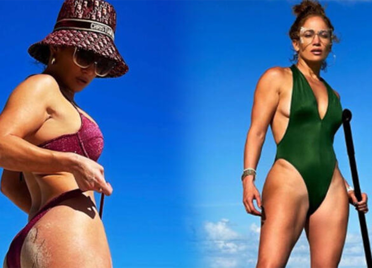 Jennifer Lopez mayolu pozuyla yürek hoplattı