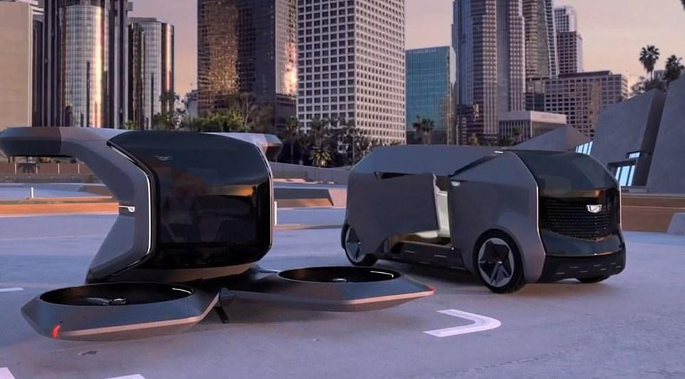Cadillac sürücüsüz uçan otomobilini tanıttı
