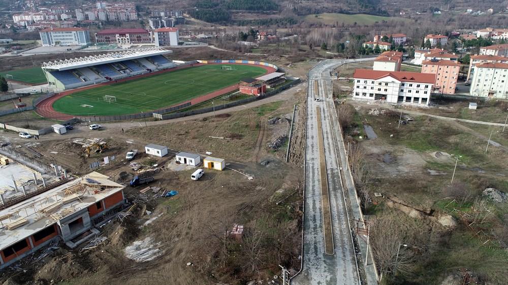 Zonguldak'taki Mesut Özil Spor Kompleksi'nde sona doğru...