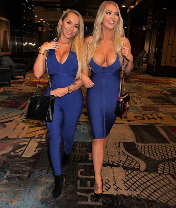 Ünlü modeller Claudia Fijal ve Colleen McGinniss'in kıyafetleri olay oldu!