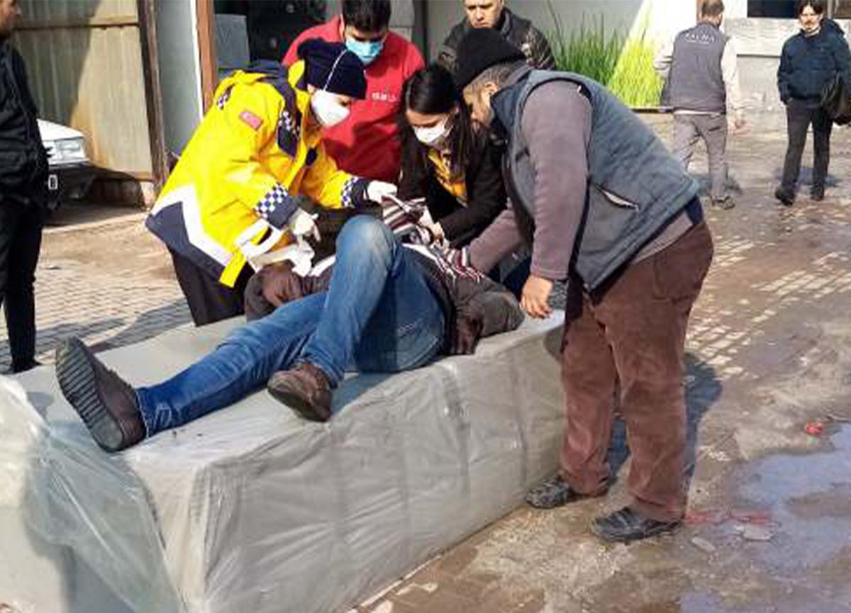 Bursa'da dehşet! 300 kiloluk sünger kalıbı üzerine düştü