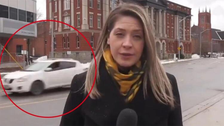 Şoke edici! Canlı yayında kadın muhabire...