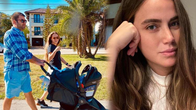 Ceyda Ateş, kızı ve eşi Buğra Toplusoy ile birlikte olduğu bir fotoğrafını paylaştı!