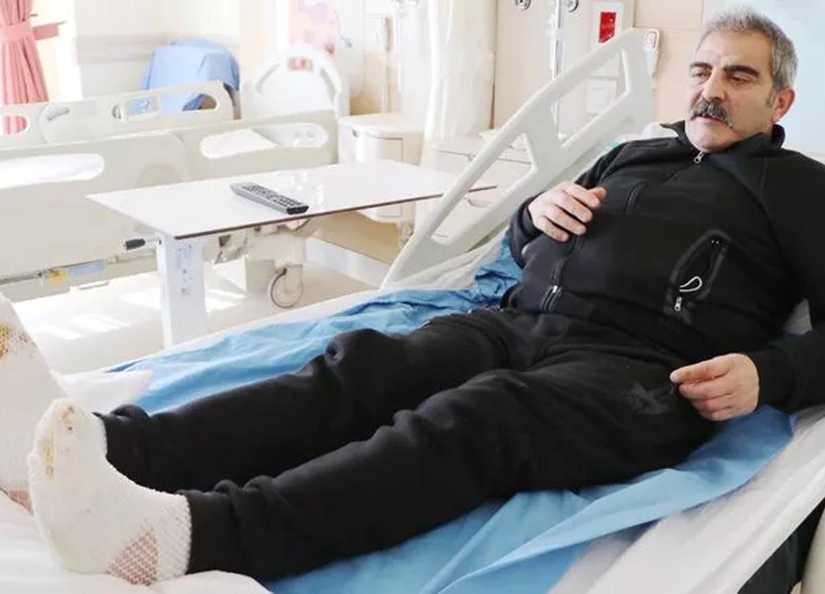 Erzurum'da şoke eden olay! Kamyon kullanırken ayakları dondu!