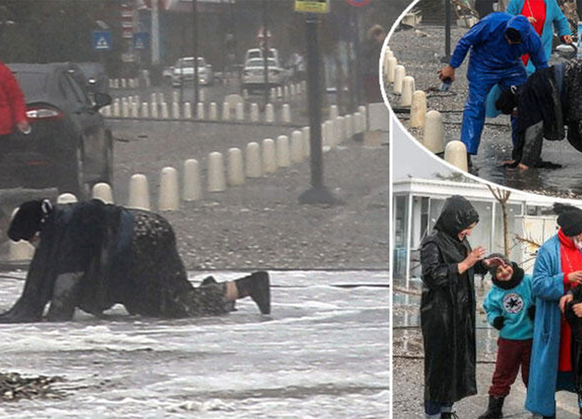 Antalya'da fırtına! Sahil, dev dalgalara teslim oldu