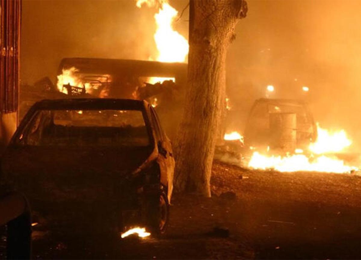 Samsun'da sanayi sitesinde büyük yangın!