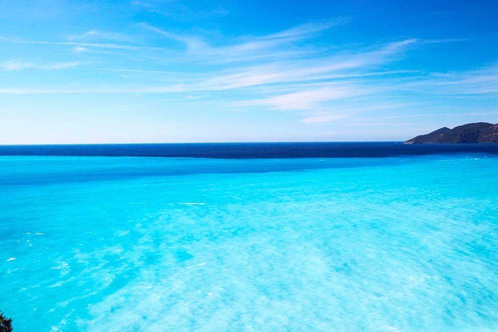Fethiye'de denizin rengi değişti! Müthiş manzara...