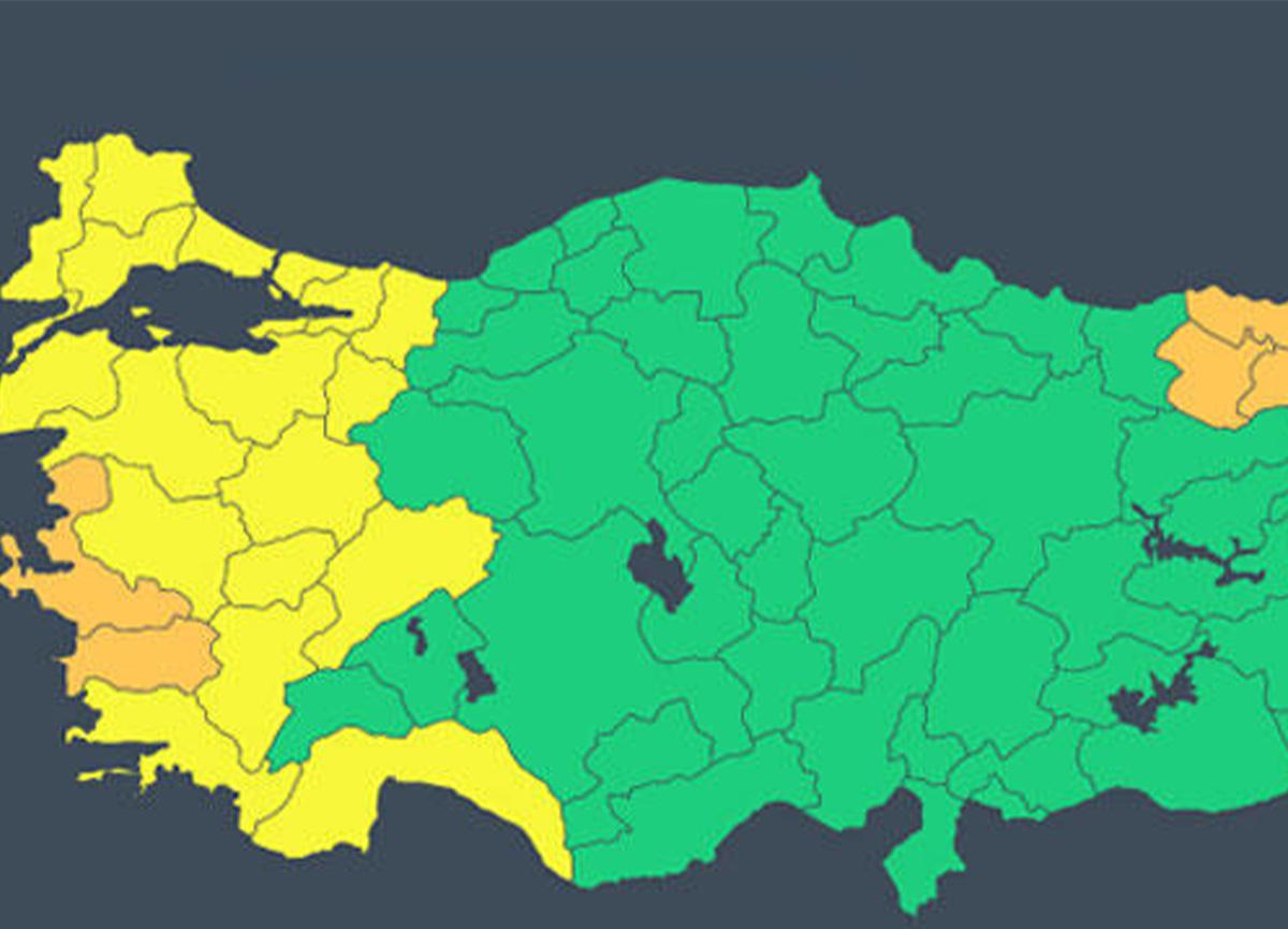 Meteoroloji'den İzmir ve çevresine turuncu uyarı