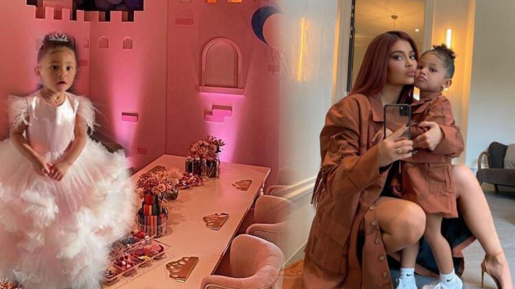 Kylie Jenner kızı için evde gösterişli bir parti verdi