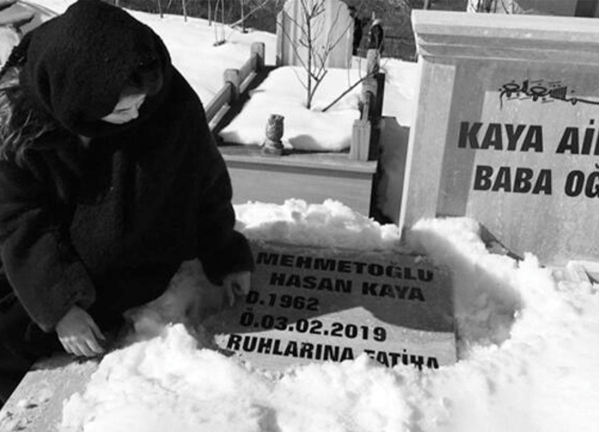 Seray Kaya yeni yaşını babasının mezarında geçirdi!