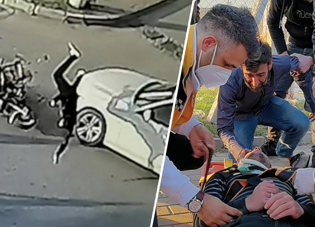 Bursa'da kahreden tesadüf! Metrelerce savruldu ağır yaralandı