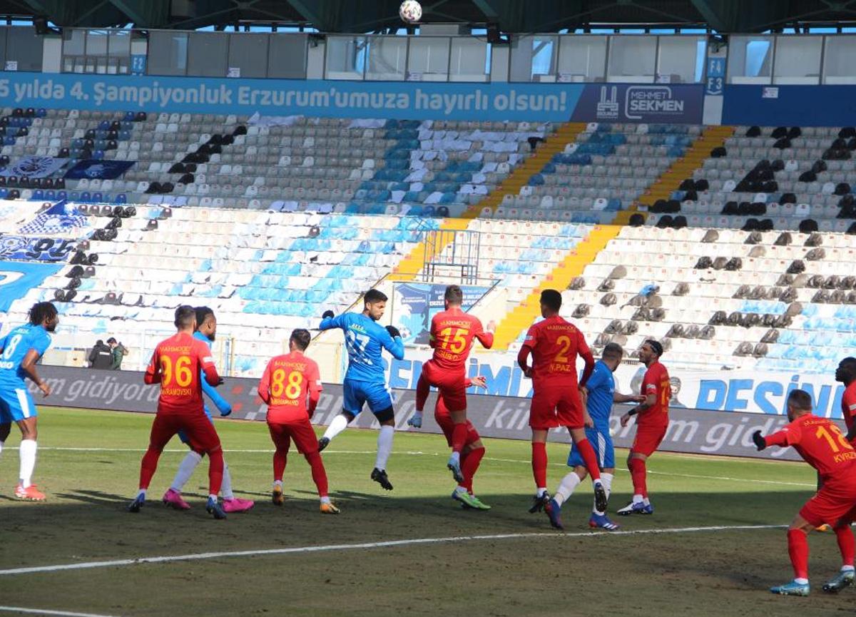 BB Erzurumspor evinde Kayserispor 1-1 berabere kaldı!